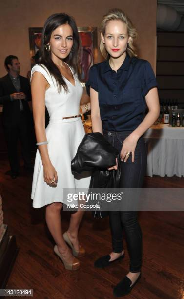 Actresses Camilla Belle and Leelee Sobieski attend the 2012 Tribeca Film Festival Jury lunch at the Tribeca Grill Loft on April 19 2012 in New York...