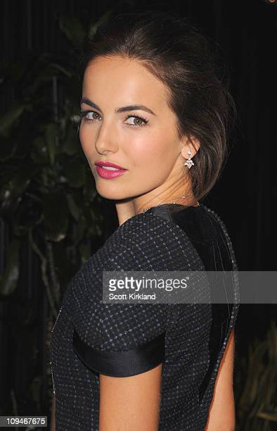 Actresses Camilla Belle arrives at the Chanel Charles Finch PreOscar Dinner Celebrating Fashion Film at Madeo Restaurant on February 26 2011 in Los...