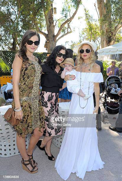 Actresses Camille Belle and Selma Blair Skylar Berman and stylist Rachel Zoe attend the Veuve Clicquot Polo Classic Los Angeles at Will Rogers State...