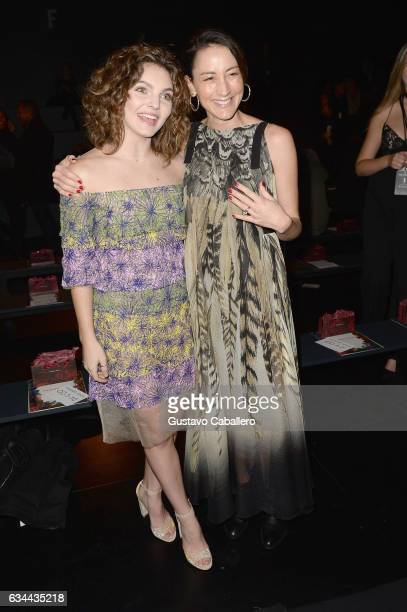 Actresses Camren Bicondova and Bree Turner attend Tadashi Shoji fashion show during New York Fashion Week The Shows at Gallery 1 Skylight Clarkson Sq...