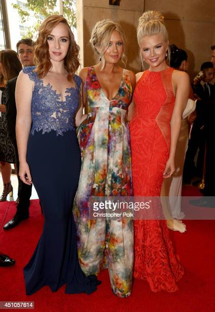 Actresses Camryn Grimes Melissa Ordway and Kelli Goss attend The 41st Annual Daytime Emmy Awards at The Beverly Hilton Hotel on June 22 2014 in...