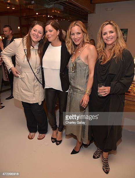 Actresses Camryn Manheim and Marcia Gay Harden and actressauthor Maria Bello and Clare Munn attend the party for her book WhateverLove is Love at...