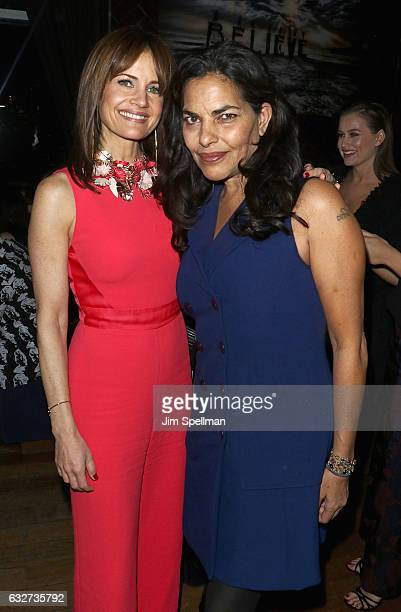 Actresses Carla Gugino and Sarita Choudhury attend the screening after party for The Space Between Us hosted by STX Entertainment with The Cinema...