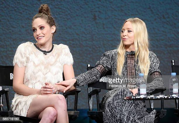 Actresses Carly Chaikin and Portia Doubleday speak onstage at the 'Decoding Season_20 With the Women of Mr Robot' panel discussion during the...