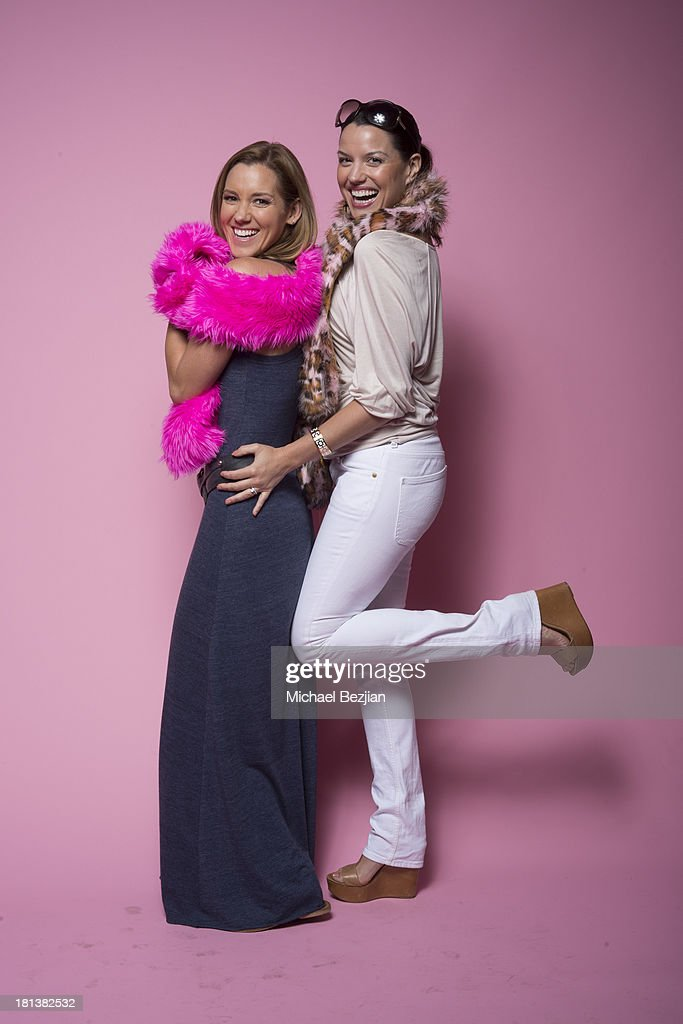 Actresses Carly Craig and Caroline Morahan pose for a portrait at the Mark Kearney Group - 'Iced Out' Luxury Emmy Suite on September 20, 2013 in Los Angeles, California.