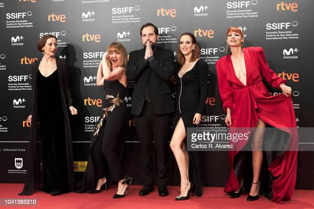 Actresses Carme Elias, Eva Llorach, director Carlos Vermut, Natalia de Molina and Najwa Nimri attend the 'Quien Te Cantara' premiere during the 66th...