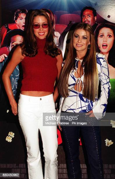 Actresses Carmen Electra of 'Baywatch' and Shannon Elizabeth who starred in the film 'American Pie' at the Odeon in Leicester Square central London...