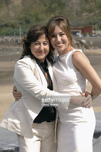 Actresses Carmen Machi and Lola Duenasatt attend a photocall for 'Ce Que Je Sais De Lola' during the sixth day of 54th San Sebastian Film Festival at...