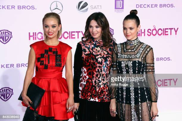 Actresses Caro Cult Iris Berben and Emilia Schuele attend the 'High Society' Germany premiere at CineStar on September 5 2017 in Berlin Germany