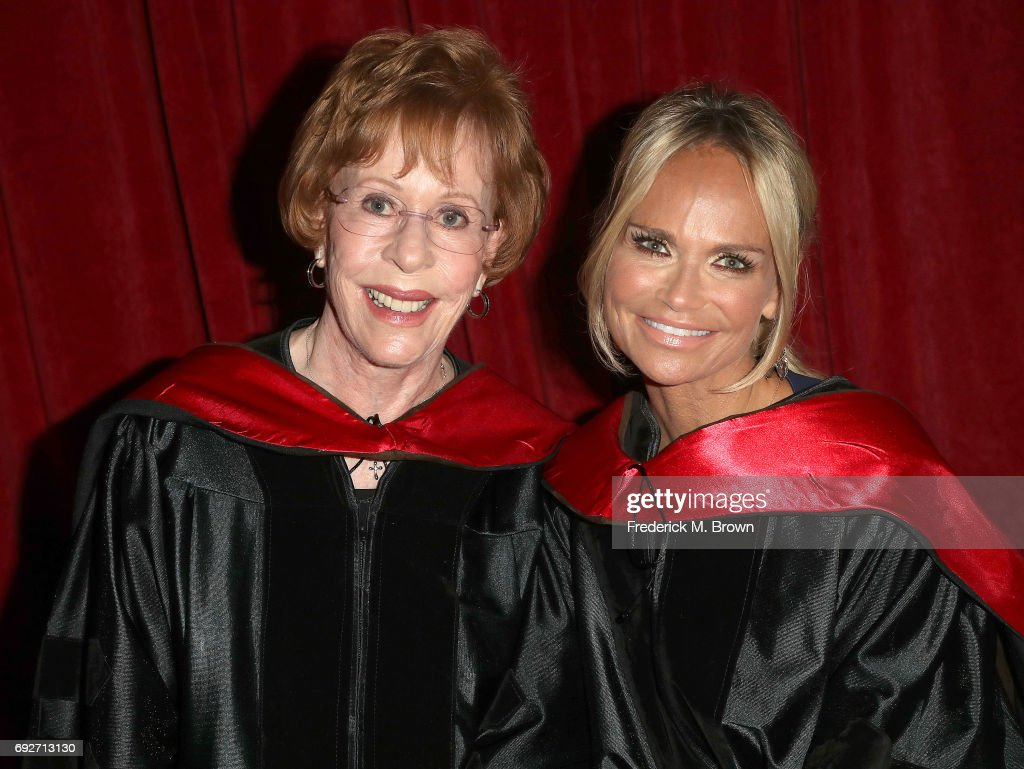 Actresses Carol Burnett, (L) and Kristin Chenoweth attend AFI's Conservatory Commencement Ceremony at the TCL Chinese Theatre on June 5, 2017 in Hollywood, California.