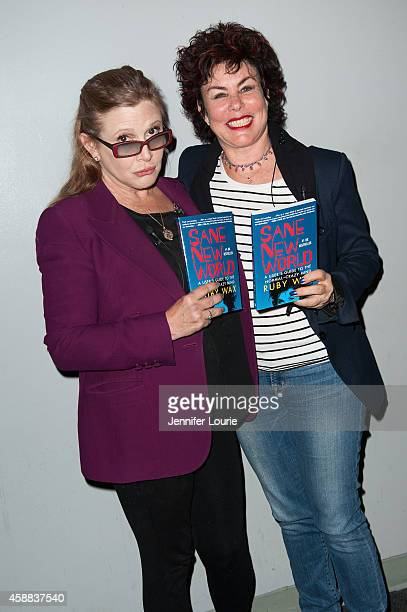 Actresses Carrie Fisher and Ruby Wax attend Live Talks Los Angeles presents Ruby Wax In Conversation with Carrie Fisher at the Aero Theatre on...