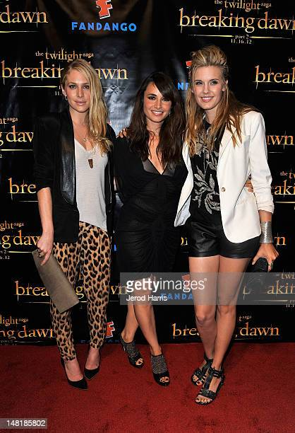Actresses Casey LaBow Mía Maestro and Maggie Grace attend 'The Twilight Saga Breaking Dawn Part 2' VIP ComicCon Celebration Sponsored by Fandango at...