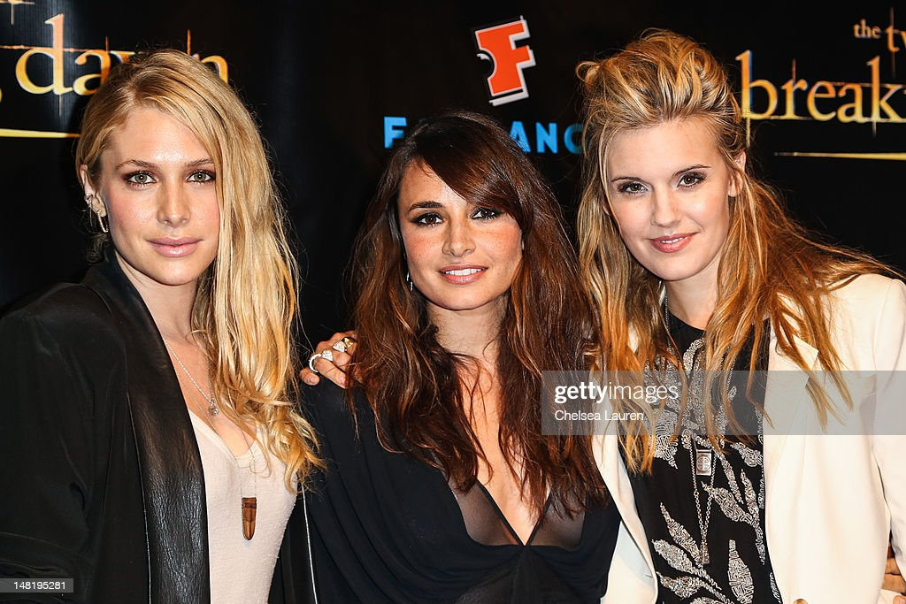 Actresses Casey LaBow, Mia Maestro and Maggie Grace arrive at 'The Twilight Saga: Breaking Dawn - Part 2' VIP Comic-Con celebration at Hard Rock Hotel San Diego on July 11, 2012 in San Diego, California.