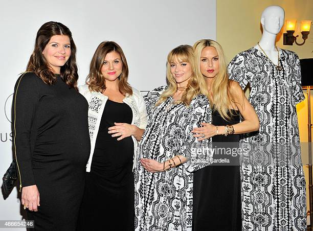 Actresses Casey Wilson Tiffani Thiessen Jaime King and stylist Rachel Zoe attend Rachel Zoe and A Pea In The Pod celebrate maternity collaboration at...