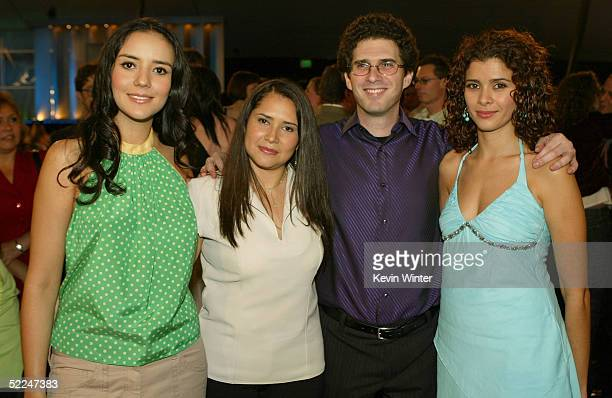 Actresses Catalina Sandino Moreno Yenny Paola Vega director/writer Joshua Marston and actress Guilied Lopez in the audience at the 20th IFP...