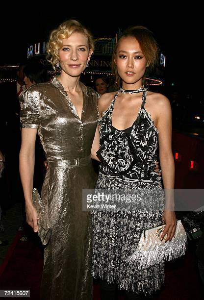 Actresses Cate Blanchett and Rinko Kikuchi arrive at the Paramount Vantage premiere of 'Babel' held at the FOX Westwood Village theatre on November 5...