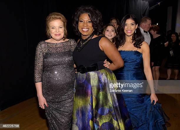 Actresses Catherine Curtin, Lorraine Toussaint, Kimiko Glenn, and Laura Gomez attend TNT's 21st Annual Screen Actors Guild Awards at The Shrine...