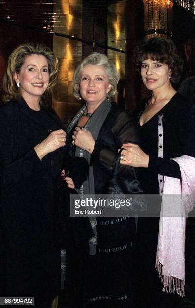 Actresses Catherine Deneuve MarieChristine Barrault and Fanny Ardant attend a benefit party for the Association pour la Vie Espoir contre le Cancer...