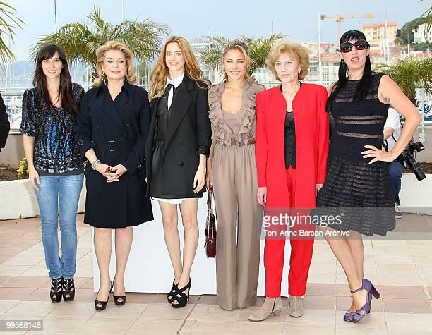 Actresses Catherine Deneuve Pilar Lopez de Ayala Elsa Pataky Marisa Paredes and Rossy de Palma attend the Homage to Spanish Cinema Photo Call held at...