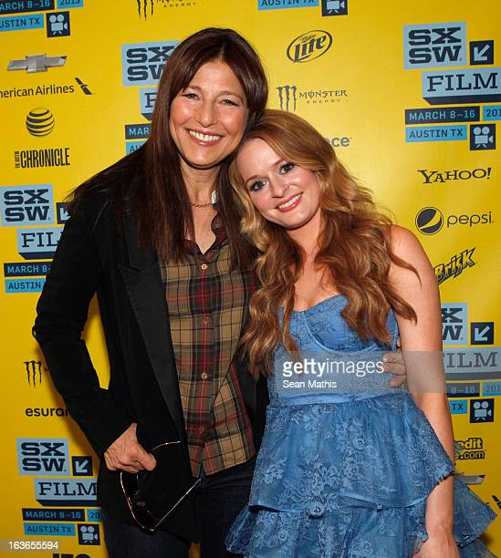 Actresses Catherine Keener and Fallon Goodson arrive at the screening of Maladies during the 2013 SXSW Music Film Interactive Festival at Stateside...