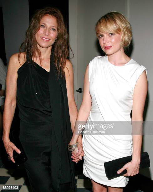 Actresses Catherine Keener and Michelle Williams attend The Cinema Society and Mulberry screening of Synecdoche New York at AMC Loews 19th Street...