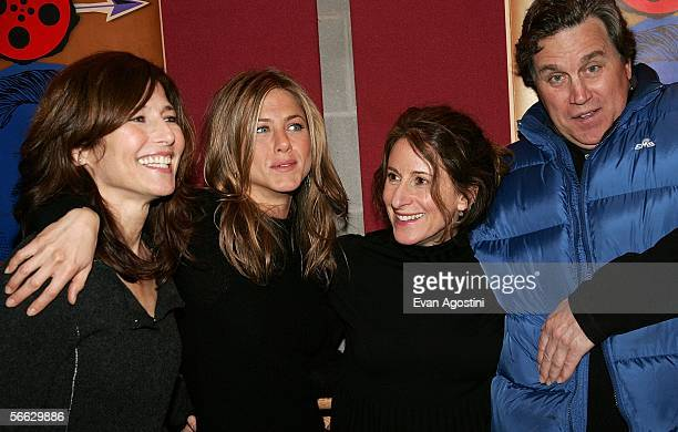 Actresses Catherine Keener Jennifer Aniston director Nicole Holofcener and CoPresident of Sony Pictures Classic Tom Bernard arrive at the Friends...