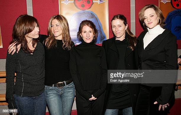 Actresses Catherine Keener Jennifer Aniston director Nicole Holofcener actresses Frances McDormand and Joan Cusack arrive at the Friends with Money...