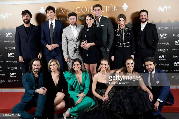 Actresses Cecilia Freire Marta Torne Marta Hazas and Paula Echevarria attend 'Velvet Collection' photocall at Teatro Barcelo on December 18 2019 in...