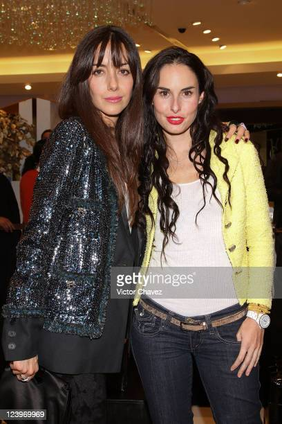 Actresses Cecilia Suarez and Ana Serradilla attend the CHANEL Espace Perfum Mexico launch at Palacio De Hierro Perisur on September 6 2011 in Mexico...