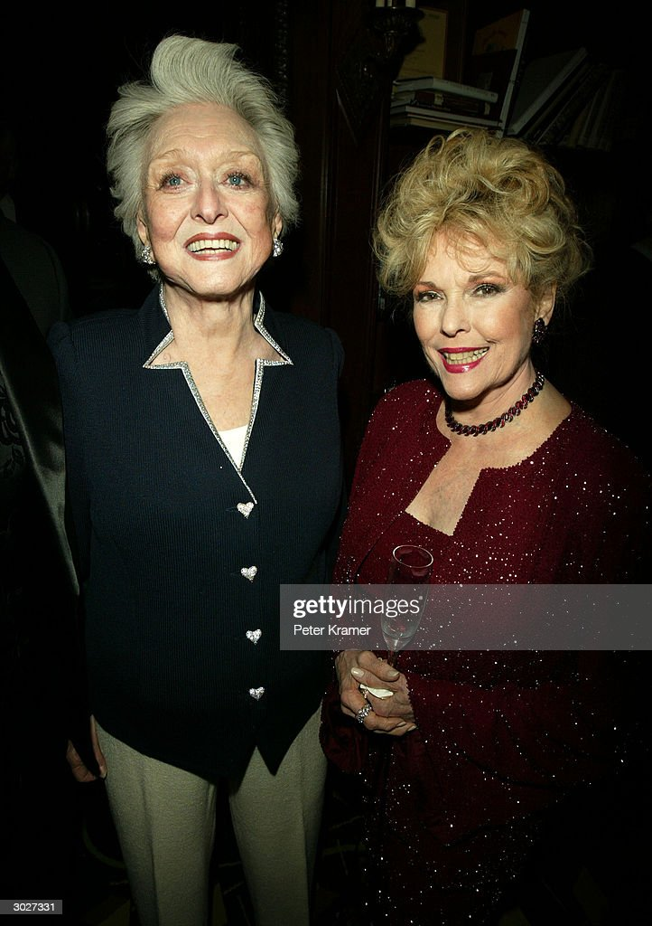 Actresses Celeste Holm and Eileen Fulton attend the AMPAS Official Oscar Night Celebration at Le Cirque February 29, 2004 in New York City.