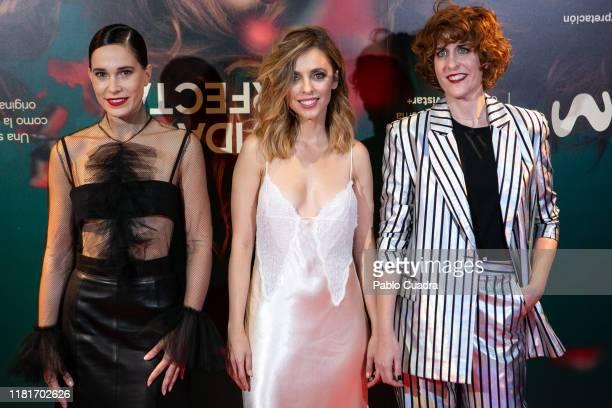 Actresses Celia Freijeiro Letizia Dolera and Aixa Villagran attend the Vida Perfecta premiere at Verdi cinema on October 17 2019 in Madrid Spain