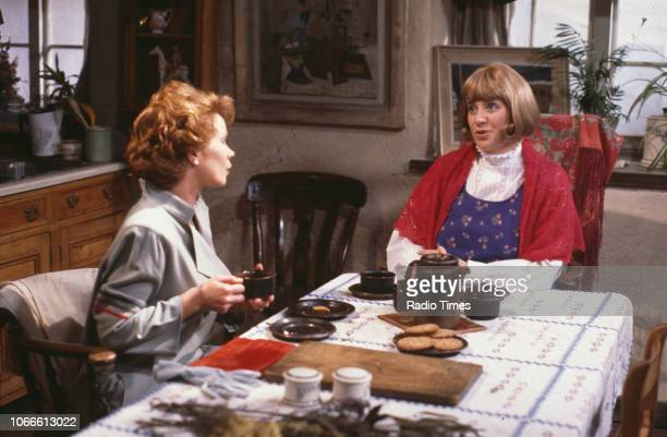 Actresses Celia Imrie and Victoria Wood in a scene from the BBC television series 'Victoria Wood As Seen on TV' September 14th 1986