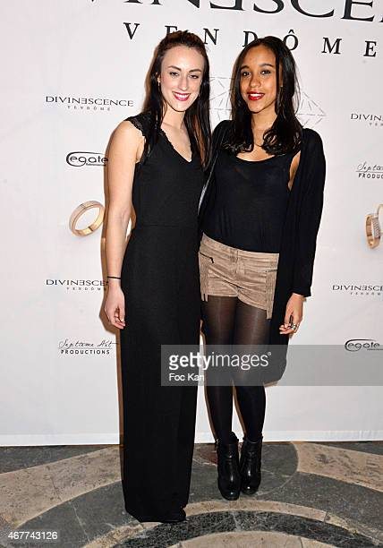 Actresses Celine Berti and Aude Forget attend the 'Diamond Night by Divinescence Vendome' Harumi Klossowska Jewellery Exhibition Preview As Part Of...