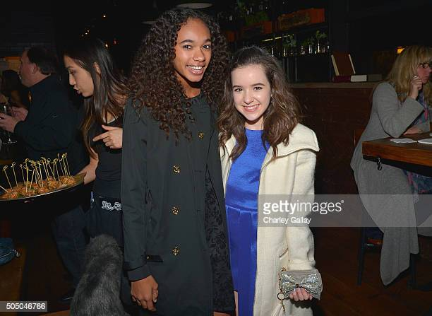 Actresses Chandler Kinney and Aubrey K Miller attend Amazon red carpet premiere screening at the Arclight Hollywood for original liveaction kids...