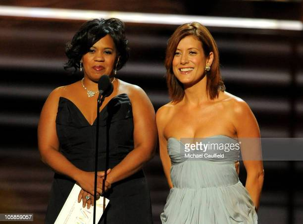 Actresses Chandra Wilson and Kate Walsh onstage at the 61st Primetime Emmy Awards held at the Nokia Theatre on September 20 2009 in Los Angeles...