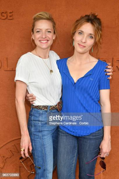Actresses Charlie Bruneau and Alix Poisson attend the 2018 French Open Day Four at Roland Garros on May 30 2018 in Paris France
