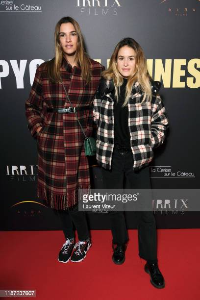 Actresses Charlotte Gabris and Alice David attends the Pygmalionnes premiere at Forum des Images on November 12 2019 in Paris France