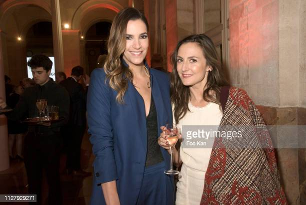 Actresses Charlotte Gabris and Camille Chamoux attend the 26th Trophees Du Film Francais Photocall at Palais Brongniart on February 05 2019 in Paris...