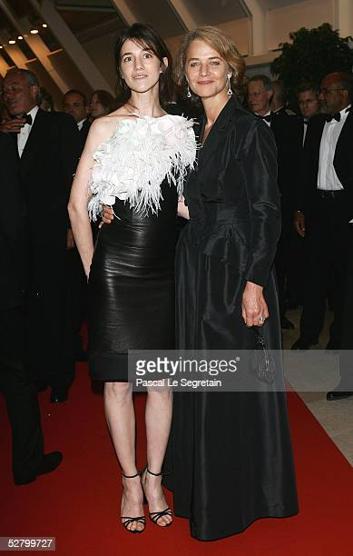 Actresses Charlotte Gainsbourg and Charlotte Rampling attend the 58th International Cannes Film Festival opening night gala at the Palais on May 11...