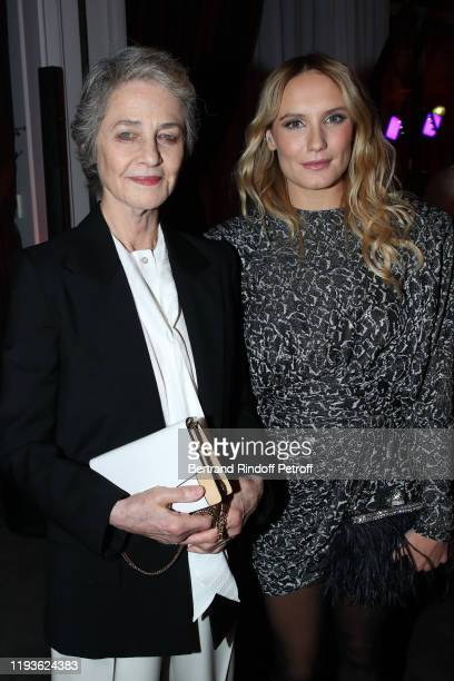 Actresses Charlotte Rampling and Ana Girardot attend the Annual Charity Dinner hosted by the AEM Association Children of the World for Rwanda AIn on...