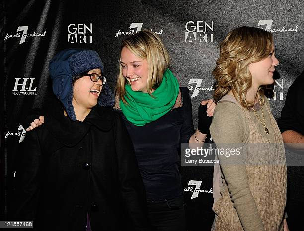 Actresses Charlyne Yi Jess Weixler and Louisa Krause at 7 For All Mankind and Gen Art Celebrate 7 Fresh Faces in Film at the Hollywood Life House on...
