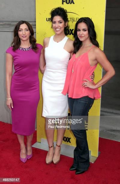 Actresses Chelsea Peretti Stephanie Beatriz and Melissa Fumero attend 'Brooklyn NineNine' FYC Special Screening Event at Universal Studios Backlot on...