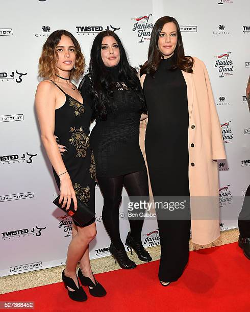 Actresses Chelsea Tyler Mia Tyler and Liv Tyler attend the Steven TylerOut On A Limb Benefit Concert on May 02 2016 in New York New York