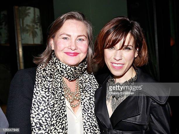 Actresses Cherry Jones and Sally Hawkins attend the after party for the Cinema Society Sony Pictures Classics screening of 'Made In Dagenham' at the...