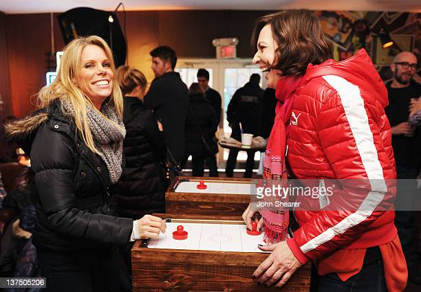 Actresses Cheryl Hines and Allison Janney attend Day 2 of the Puma Social Lounge at TMobile Google Music Village at The Lift on January 21 2012 in...