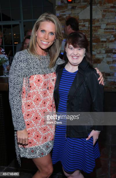 Actresses Cheryl Hines and Jamie Brewer attend a VIP Reception hosted by Maria Shriver during Best Buddies Hearst Castle Challenge at Tehama Golf...