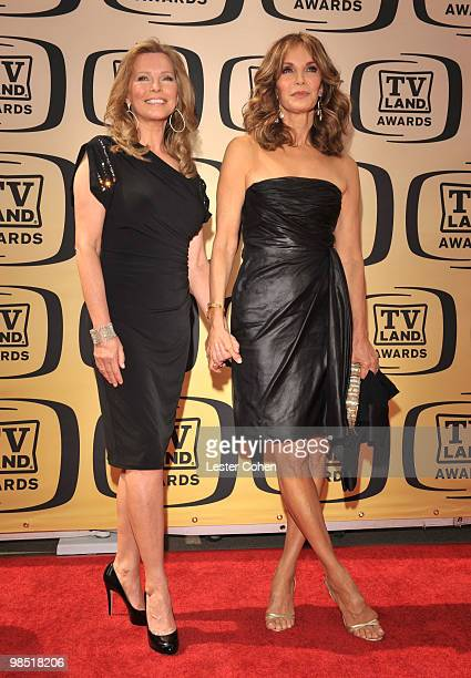 Actresses Cheryl Ladd and Jaclyn Smith arrive at the 8th Annual TV Land Awards at Sony Studios on April 17 2010 in Los Angeles California
