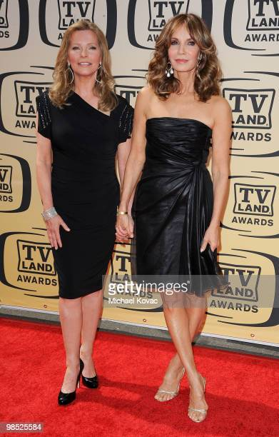 Actresses Cheryl Ladd and Jaclyn Smith attend the 8th Annual TV Land Awards held at Sony Studios on April 17 2010 in Culver City California