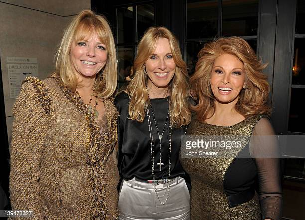 Actresses Cheryl Tiegs Alana Stewart and Raquel Welch attend the Montblanc Vanity Fair Party celebrating the Collection Princesse Grace de Monaco at...