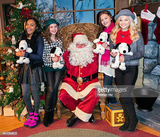 Actresses China Anne McClain Bailee Madison Kelli Berglund and Olivia Holt attend the Knott's Merry Farm Holiday Reading and Tree Lighting at Knott's...